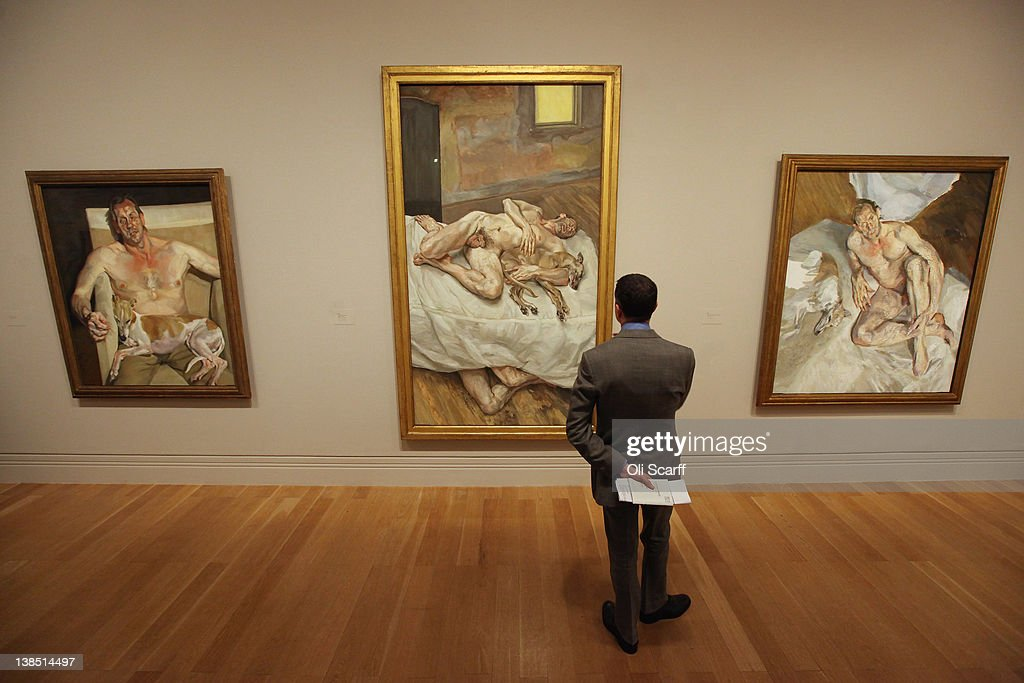 Major Collection Of Artworks By Lucien Freud On Show At The National Portrait Gallery : News Photo