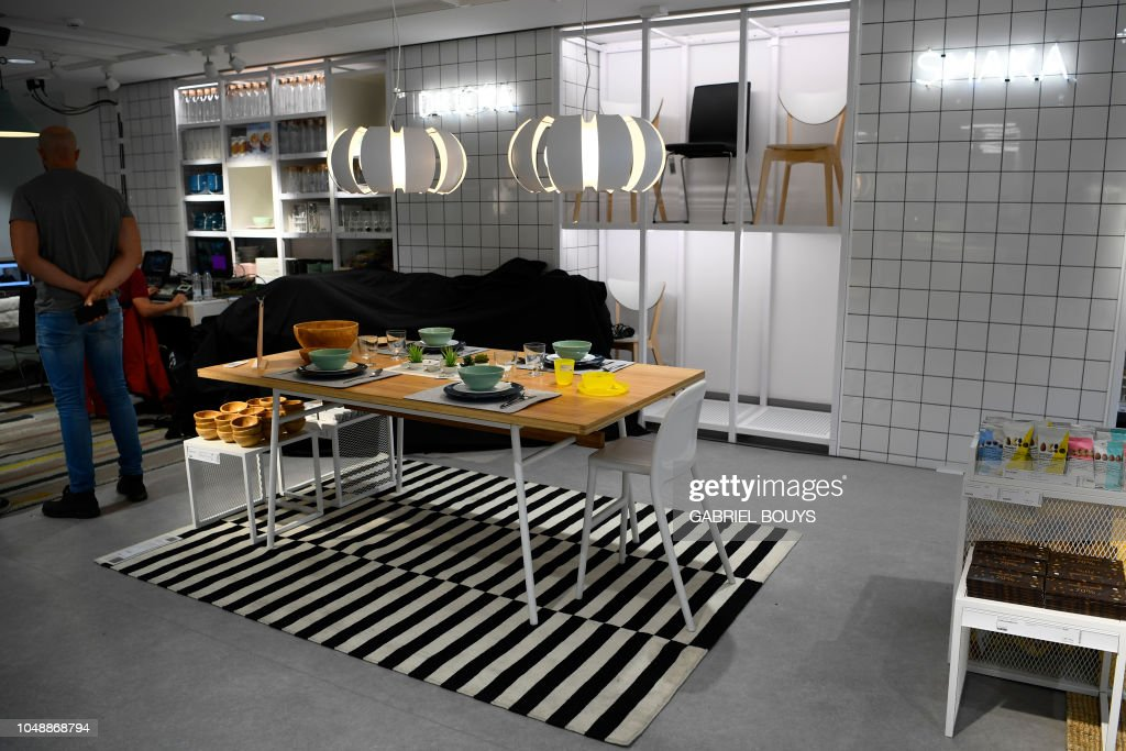 A Man Visits A Store Of The Swedish Furniture Giant Ikea In Madrid