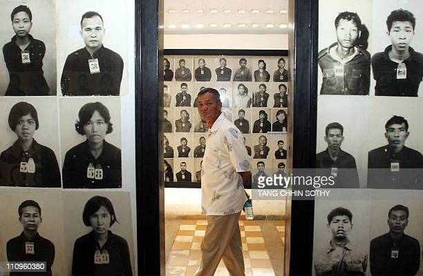 Man visits Tuol Sleng genocide museum in Phnom Penh, 26 June 2006. Twenty-seven years after the fall of the genocidal Khmer Rouge, judges will be...