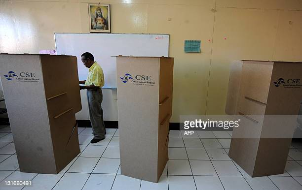 A man votes at a polling station in Managua during Nicaragua's presidential election on November 6 2011 Polls opened early Sunday in Nicaragua in...