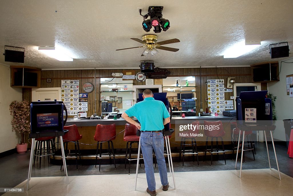 A man votes at the Aiken American Legion Post polling precinct on February 20, 2016 in Aiken, South Carolina. Statewide voters will cast ballots today in the South Carolina Republican Presidential Primary, the 'first in the south.'