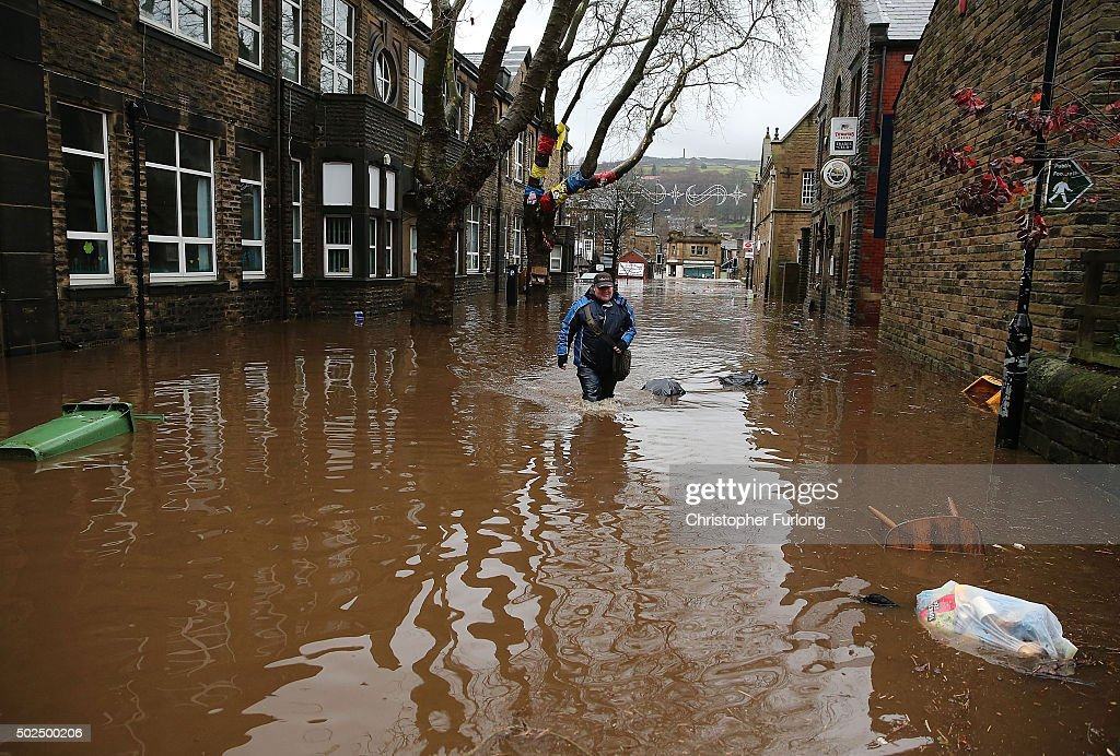 Severe Flood Warnings Issued For Northern England : News Photo