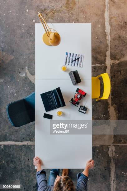 Man waiting at desk