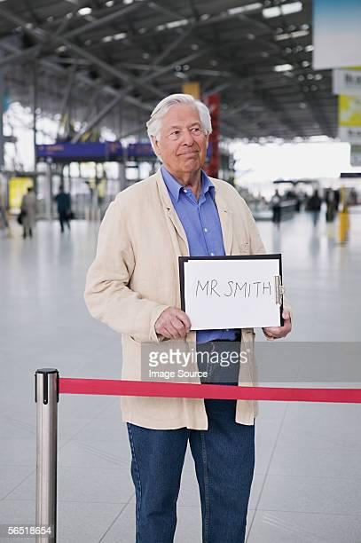 Man waiting in airport