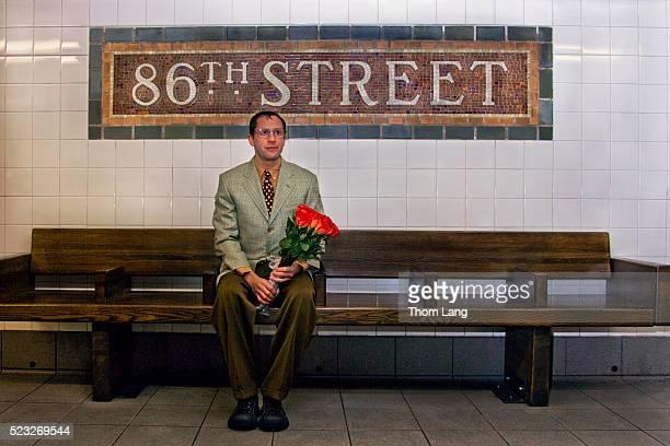 Man Waiting in Subway