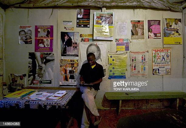 A man waits on May 31 2012 to be tested for HIV/AIDS at a government run Voluntary Counselling and Testing Center in Nairobi's Kibera slum Kenya...