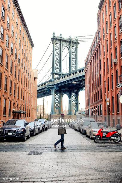 Man walking in Brooklyn