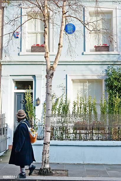 Man Walking In Front Of George Orwell House - Portobello