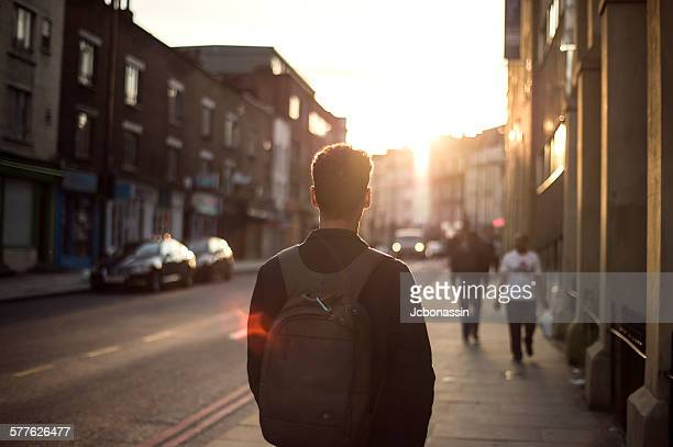 man walking in london - jcbonassin stock pictures, royalty-free photos & images