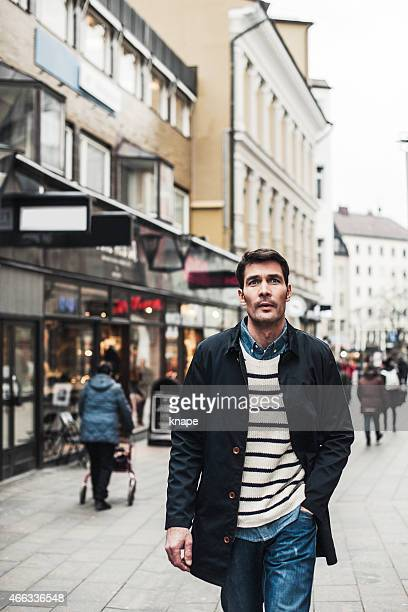 Man walking in the city