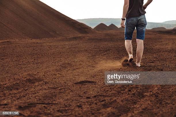 Man walking に、ピート