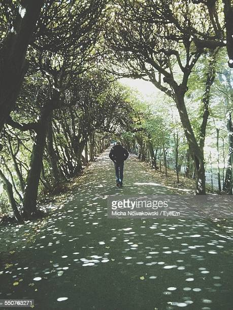 man walking on road - pomorskie province stock photos and pictures