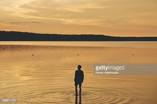 Man walking on the waters