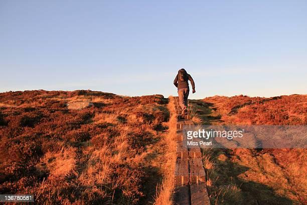 Man walking on Wicklow Way