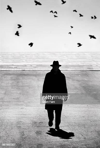 man walking - 地形 ストックフォトと画像