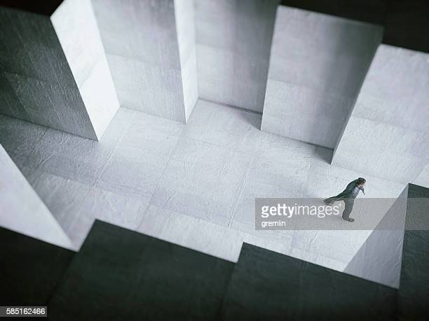 man walking towards the light - light at the end of the tunnel stock pictures, royalty-free photos & images
