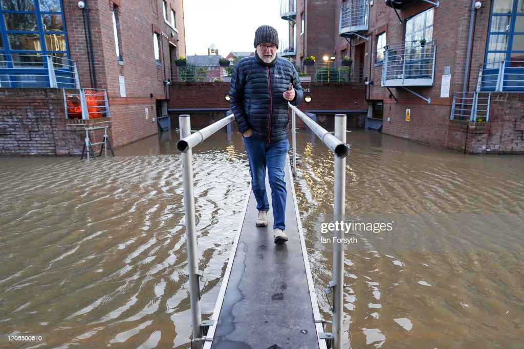 York's River Ouse Breaches Its Banks : News Photo