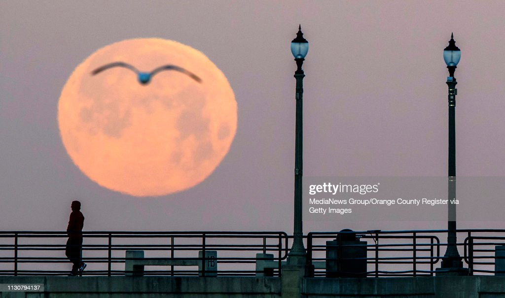 The Super Snow Moon, the biggest supermoon of 2019 : News Photo
