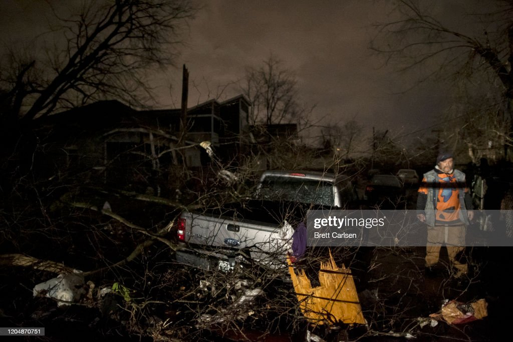 Tornado Hits Nashville, Tennessee : News Photo
