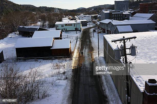 A man walks down a street in St Johnsbury a town which has a high rate of heroin users on February 6 2014 in St Johnsbury Vermont Vermont Governor...