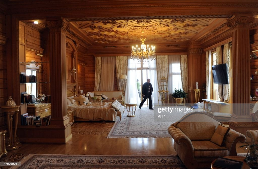 A Man Walks In A Bedroom In The Main House Of Luxury Residence Of Former  Ukrainian