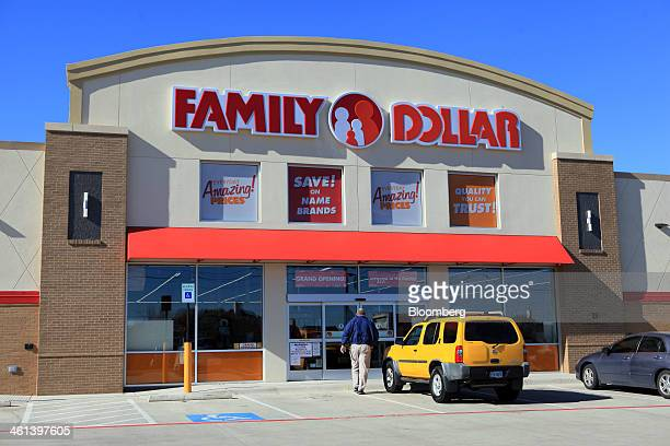 A man walks into a Family Dollar Stores Inc location in Mansfield Texas US on Tuesday Jan 7 2014 Family Dollar Stores Inc is expected to release...