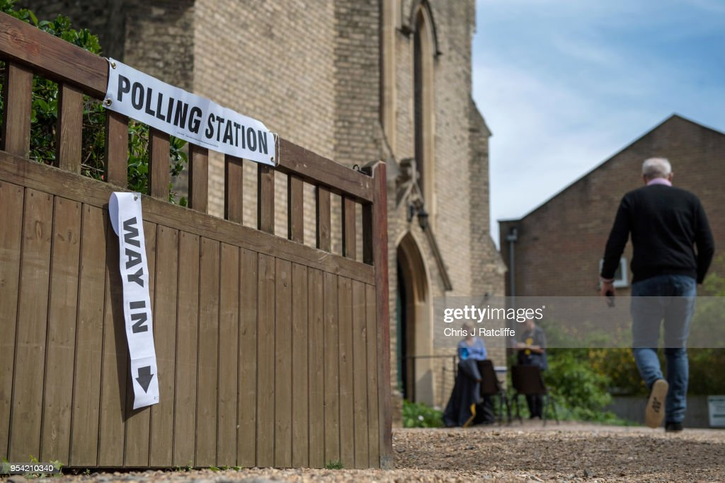 Voters Go To The Polls In The English Council Elections : News Photo