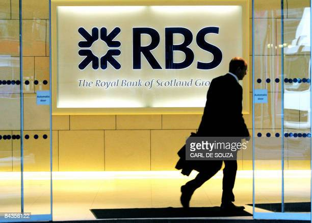 A man walks into the London headquarters of the Royal Bank of Scotland on January 19 2009 Royal Bank of Scotland majorityowned by the taxpayer said...