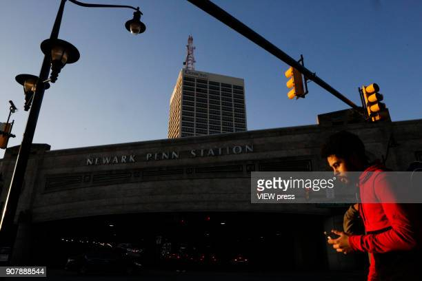A man walks next to Newark Penn Station on January 18 2018 in Newark New Jersey Amazon has released a shortlist for its muchanticipated second...