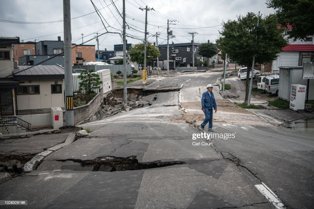 Large Earthquake Strikes Hokkaido : ニュース写真