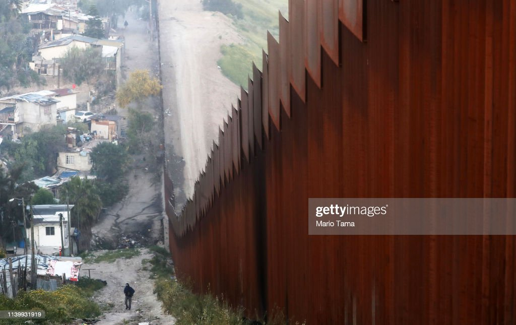 President Trump Threatens To Close The Southern Border With Mexico Over Immigration : News Photo