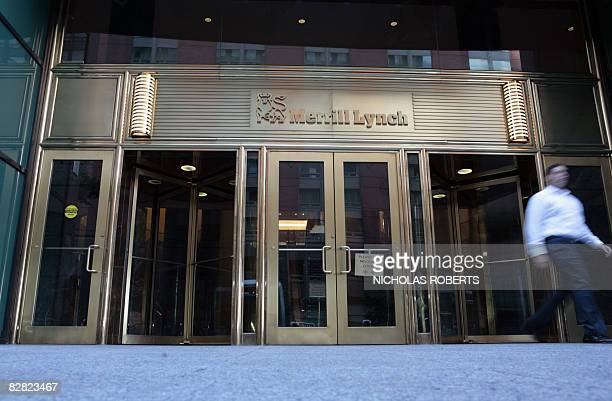 A man walks out of Merrill Lynch's headquarters in New York on September 15 2008 Bank of America announced Monday it was buying Merrill Lynch for 50...