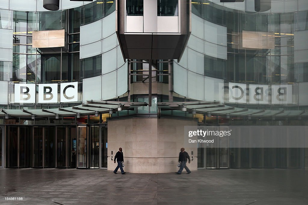A man walks out of the BBC Broadcasting House on October 22, 2012 in London, England. A BBC1 'Panorama' documentary, to be broadcast later tonight, contains new allegations about the handling by BBC2 programme 'Newsnight' concerning claims of sexual abuse allegedly carried out by fomer BBC television presenter, Sir Jimmy Savile, the transmission of which was subsequently dropped. Police have confirmed that Savile, the BBC presenter and DJ who died in October 2011 aged 84, may have sexually abused children on BBC premises.