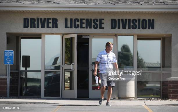 A man walks out of the Driver License Division for the state of Utah on July 9 2019 in Orem Utah Documents recently made public show that the FBI and...