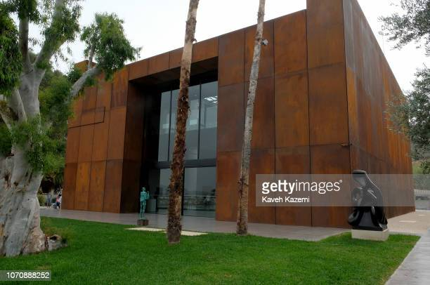 A man walks outside the main entrance of Nabu museum on October 21 2018 in ElHeri Lebanon Situated on the coast of the Mediterranean at the village...