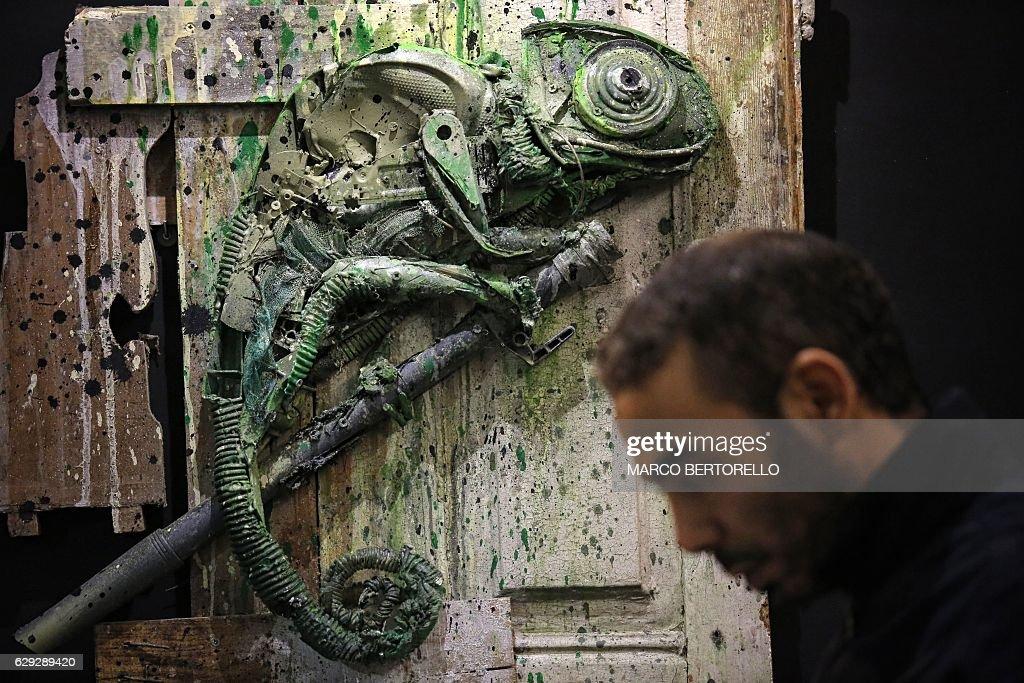 ITALY-ART-BORDALO-ANIMALS : Nachrichtenfoto