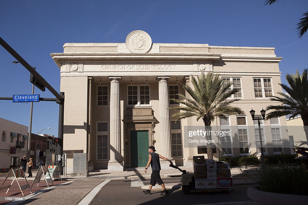 A man walks past a headquarters for the Church of Scientology January 16, 2013 in Clearwater, Florida. A book, 'Going Clear: Scientology, Hollywood & the Prison of Belief' that is sent to be released January 17, has renewed interest in the religion that counts actors Tom Cruise and John Travolta as followers.