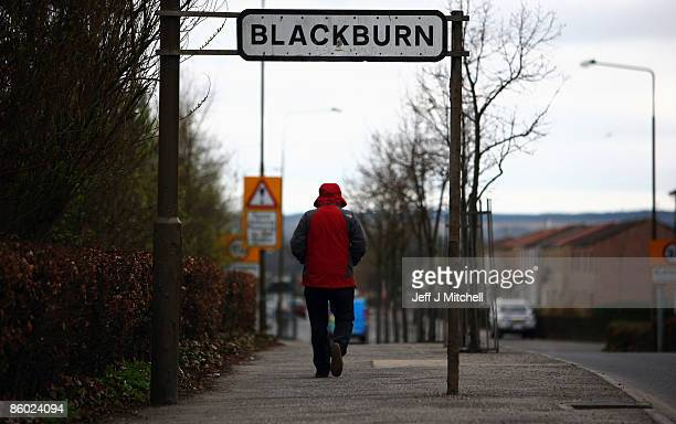 A man walks past a road sign in Blackburn the home of Britain�s Got Talent contestant Susan Boyle on April 18 2009 in Blackburn Scotland The 47 year...