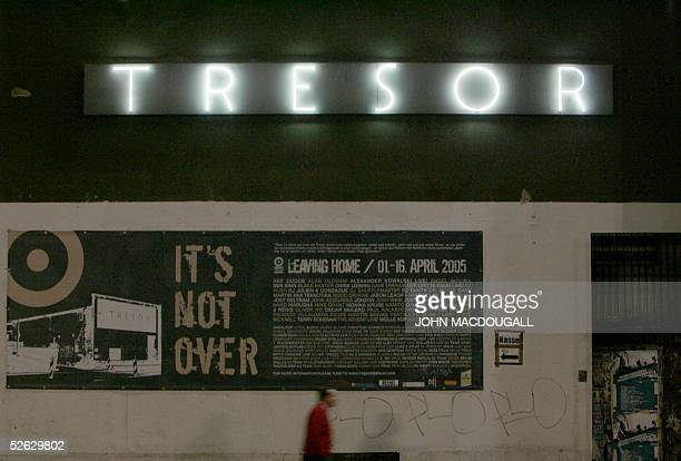 A man walks past Berlin's 'Tresor' nightclub 04 April 2005 The club founded by Dimitri Hegemann in 1991 will close its doors 16 April 2005 Located in...