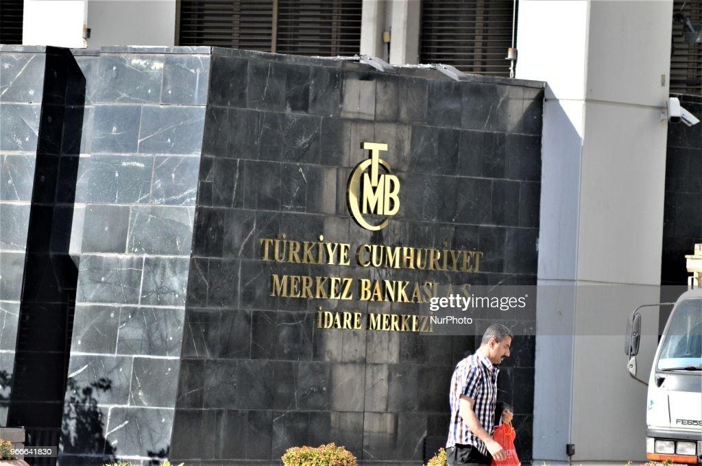 Head Office of Turkey's Central Bank in Ankara : News Photo