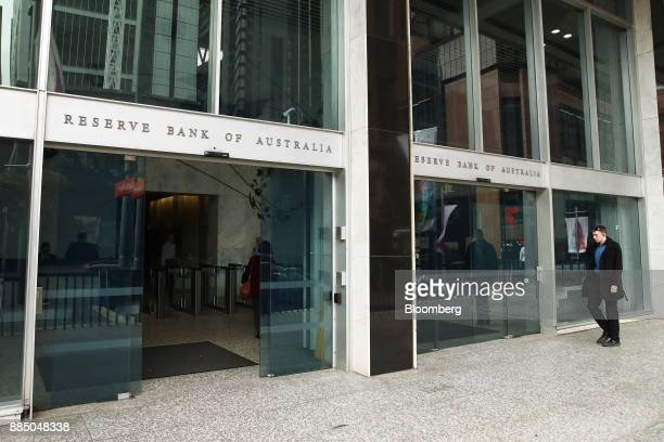 A man walks past the Reserve Bank of Australia headquarters in Sydney Australia on Monday Dec 4 2017 Australia's central bank is on track for its...