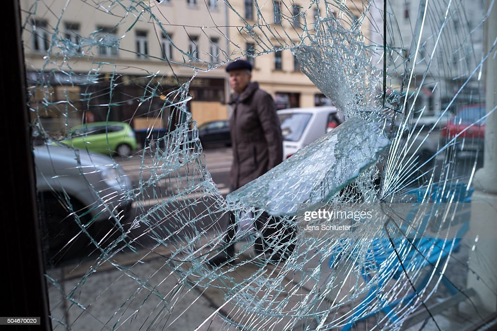 Aftermath Of Right-Wing Rioting In Leipzig : News Photo