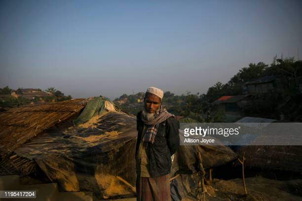 Man walks through a Rohingya refugee camp on January 23, 2020 in Cox's Bazar, Bangladesh. On Thursday, the International Court of Justice ordered...
