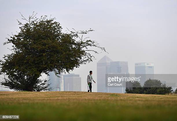 A man walks through Greenwich Park on September 21 2016 in London England Today marks final day of summer as the autumn equinox arrives on Thursday...