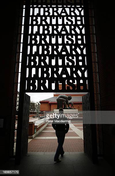 A man walks through the main entrance to The British Library on April 5 2013 in London England The British Library and four other organisations have...