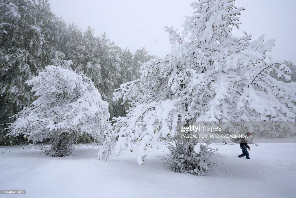 FRANCE-CORSICA-WEATHER-SNOW : Foto di attualità
