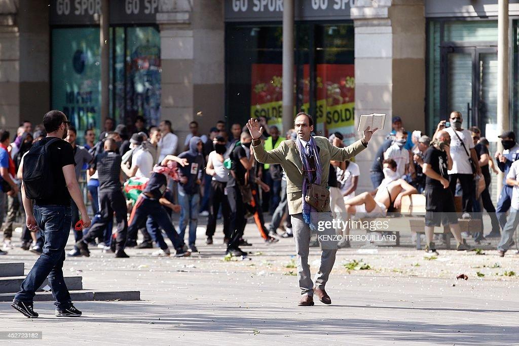 FRANCE-ISRAEL-PALESTINIANS-CONFLICT-GAZA-DEMO : News Photo
