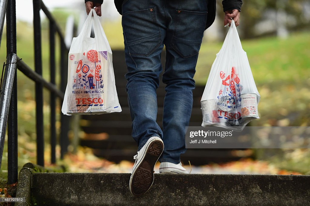 Tesco Supermarket Report 92% Fall In Profits : News Photo