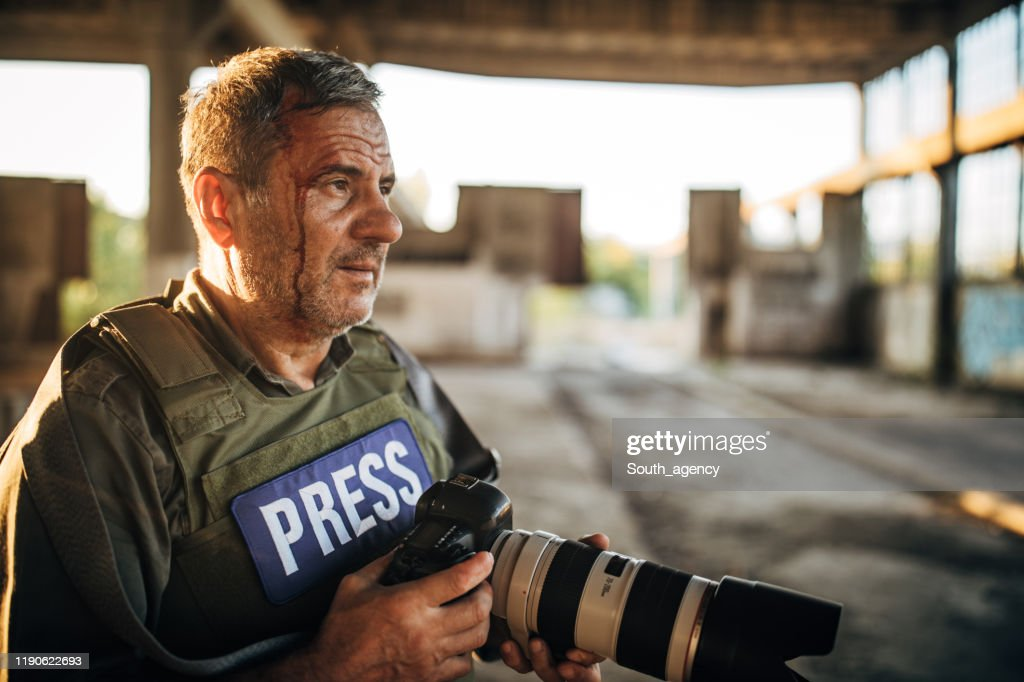 Man War Photographer In Abandoned Building High Res Stock Photo Getty Images