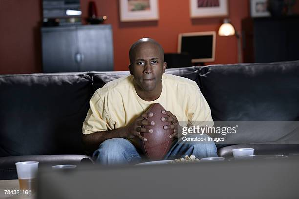 Man watching the game